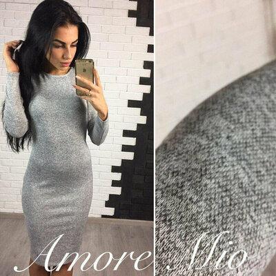 Женское теплое ангоровое платье приталенного силуэта Rondo хит арт.857 скл.10