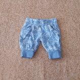 Фирменные спортивные штанишки 0-1мес