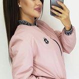 Женская куртка ветровка бомбер на резинке ткань плащевка канада все размеры скл.1 арт.57266