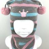 Зимние детские шапки-шлемы. ТМ BEEZY. Украина Шапки шлемы сделаны из 100% шерсти