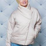 Оригинальная женская куртка деми осенняя 3 цвета