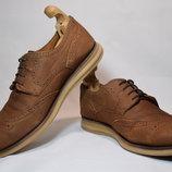 Туфли оксфорды Navyboot мужские кожаные. Швейцария. Оригинал. 43-44 р./28.5 см.