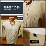 Рубашка от eterna, оригинал, в составе лен.