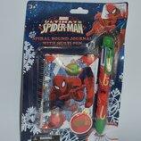 новый набор блокнот и ручка 6 цветов с человеком-пауком marvel оригинал сша