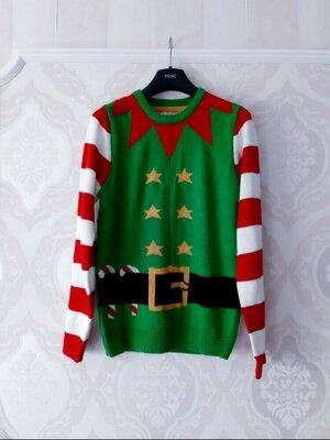 Размер М Супер яркий фирменный новогодний свитер