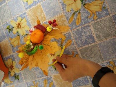 Обруч осень овощи тыква