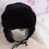 Зимняя шапка-ушанка из натурального меха.Размер 50-54.Новая