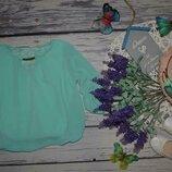 2 - 4 года 92 - 104 см фирменная блузка блуза рубашка для модниц с кружевом и подворотом рукава