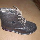 Демисезонные ботинки на девочку 26-31 р. Bessky, осенние, весенние, на флисе, школу, бески, бесски