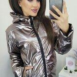 Женская демисезонная куртка плащевка сильвер на синтепоне скл.1 арт.57542