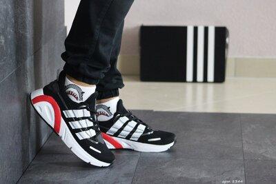 Кроссовки мужские Adidas черный с белым 8344