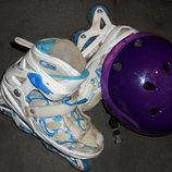ролики раздвижные шлем защитный б/у