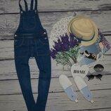 6 - 7 лет 122 см Очень крутой джинсовый комбинезон стильной девушке девочке Зара Zara