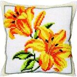 Набор для вышивки подушки крестиком Чаривна мить Рт-132 Лилии