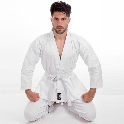Кимоно для каратэ белое Bad Boy 8190 размер 110-190см, плотность 240