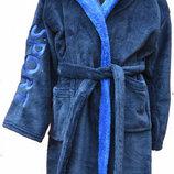 Теплые махровые халаты на мальчиков с 6 до14 лет.