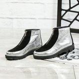 Код 4305 Демисезонные ботинки. Натуральная кожа/замша Внутри байка Рабочая молния спереди Высота под