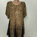 Красивая легенькая нарядная кофточка туника блуза р. 48-50-52 пог 54