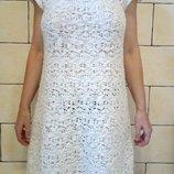 Шикарное белоснежное платье ZARA