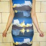 Красивенное платье стрейч р-р S