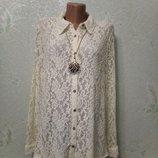 На шикарные формы Шикарная нарядная кофточка,блуза стрейч-гипюр Индия р.20