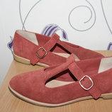 замшевые кожаные туфли clarks