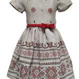 Детское платье-вышиванка. 100% хлопок