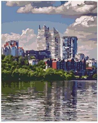 Картина по номерам идейка. Городской пейзаж Любимый город 40 50 см KHO2186
