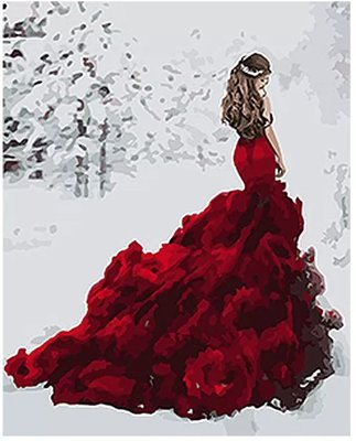 Картина по номерам идейка. Люди Снежная королева 40 50см KHO4540