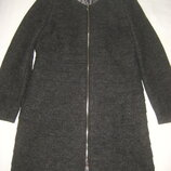 Пальто с ярусным оформлением 40% шерсть