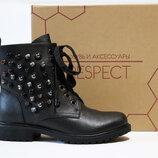 Зимние ботинки Respect оригинал. Натуральная кожа, цигейка. 36-40