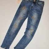 Демисезонные джинсы для девочки на рост 122-158 Венгрия