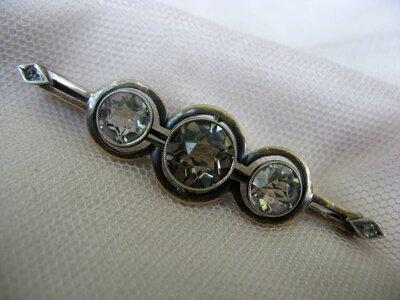 Винтажная брошь, серебро Ссср, 875, голова, горный хрусталь