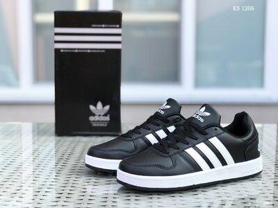 Топ качество. Бесплатная доставка. Кроссовки Adidas La marque черно-белые KS 1206