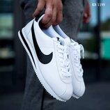 Как оригинал. Бесплатная доставка. Мужские кроссовки Nike Cortez бело-черные KS 1199