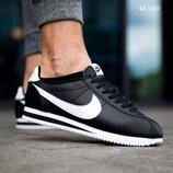 Как оригинал. Бесплатная доставка. Мужские кроссовки Nike Cortez черно-белые KS 1200