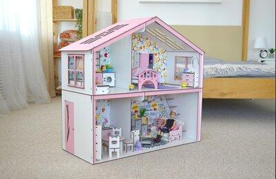 Эко домик для барби. Кукольный домик. Развивающие игрушки.