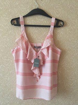 Новая фирменная блуза Oasis с воланами, размер L, 100% вискоза