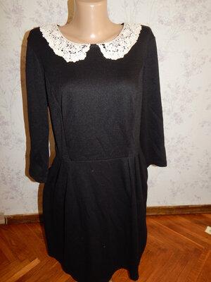 платье эластичное чёрное стильное модное р14