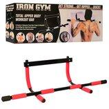 Тренажер турник Iron Gym 1529-2 металл неопрен, размер 50х20см