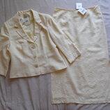 Костюм жакет юбка лето размер 16 42 идет на 50-52.