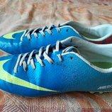 Бутсы копочки фирменные Nike Mercurial р.40-25.5см.