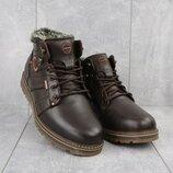 Ботинки мужские Kristan 703к коричневые натуральная кожа, зима