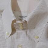 Рубашка слим бежевая текстурная мелкая клетка 'Vittorio Marchesi' 52-54р