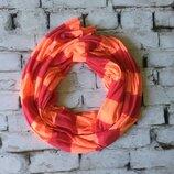 Длинный снуд трикотажный шарфик стильный шарф яркий