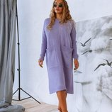 Стильное вязаное платье SONYA