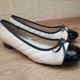 Туфли, балетки Мatalan в стиле Шанель на р.37-38