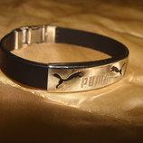 браслет Puma оригинал металл под серебро силикон 19 см Burberry Gucci