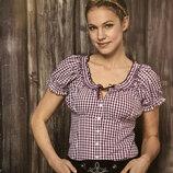 Женская блузка в клетку 38 размер