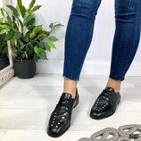 Код 1910 Туфли DIORE Материал натуральная кожа Цвет черный Размеры 36-41 размер в размер Розни